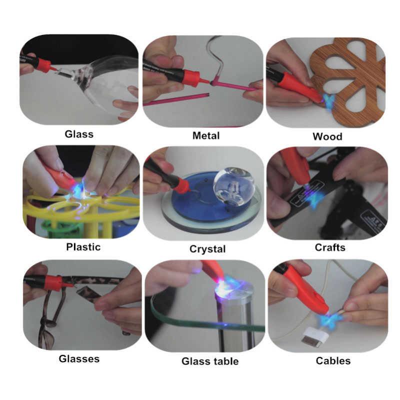 Visbella 8 ピース/箱 (4 グラム + 8 グラムリフィルパッケージ) 12 グラムの液体プラスチック溶接接着剤 5 第二修正 UV ライトのりすぐにシールと修理簡単