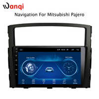 9 zoll 2.5D touchscreen Android 8.1 auto dvd gps navigation Für Mitsubishi Pajero 2006-2014
