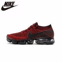 huge selection of 687bb 72589 Nike Air Vapormax Flyknit Nieuwe Collectie Originele Comfortabele Heren  Running Schoenen Zwart  rood Ademend Sneakers