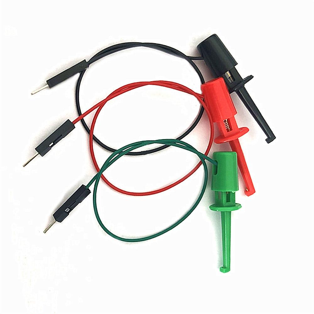 CLAITE 3 Pcs 20cm Transistor Tester Test Hook Test Clip