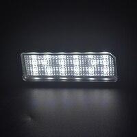 white light car 2x 18smd White Car styling Error Free LED License plate light For Hyundai I30(GD) KIA PRO C