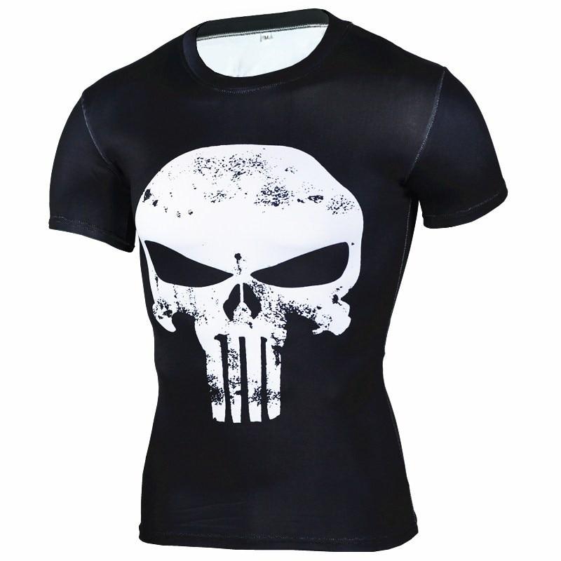 Punisher Gym T Shirt Muay Thai Mma Men Boxing Shirt Short Long Sleeve Quick Dry Fabrics All Blacks Rugby Sport Jersey Fitness