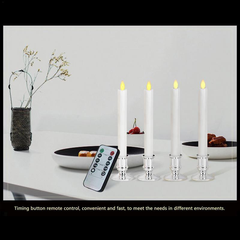 Светодиодный ресторанный Электронный светильник с имитацией батареи, свинг румяна, Свеча бар, мерцающее пламя, 10 ключей, пульт дистанционного управления - 4