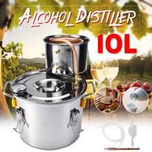 10L нержавеющая сталь медь Этанол Спирт дистиллятор Самогонный дистиллятор перегонный котел вино пиво домашний пивоваренный инструмент бар набор