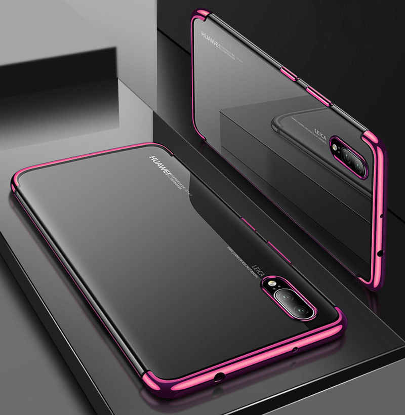 Luxury Ultra-Thin TPU Capa Silicone Soft Case For Huawei P10 P20 P30 mate 20 lite pro Shell Cover Funda For huawei nova 3 3i 3E