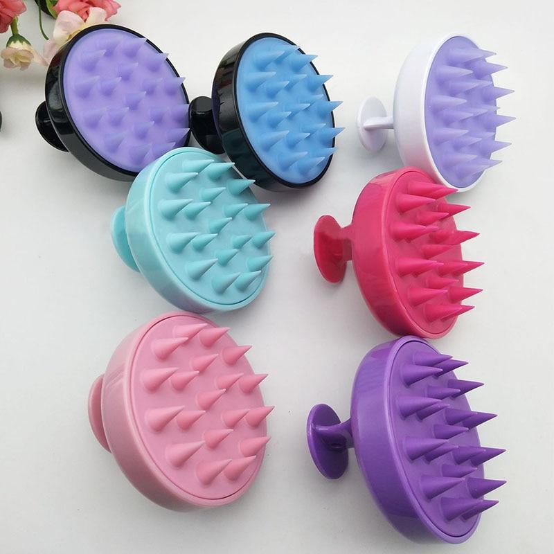 Hair Massager Bathroom Supplies Portable Washing Hair Massage Tools Silicone Hair Washing Comb Shower Bath Brush Props 1Pcs