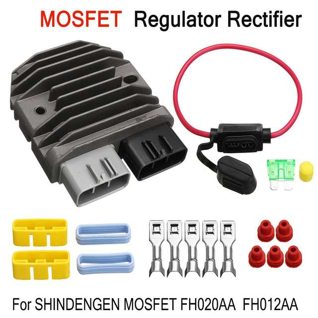 US $22 83 6% OFF|Motorcycle Voltage Regulator Rectifier For Shindengen  Mosfet FH012AA FH020AA Replacement Part Voltage Rectifier-in Motorbike  Ingition