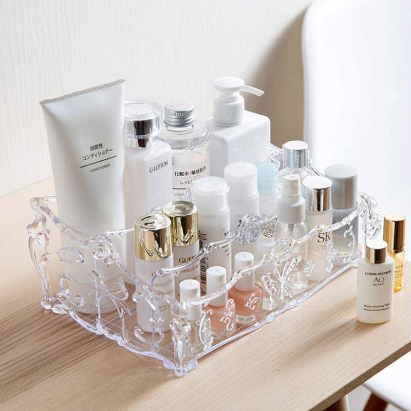 Make-up Organizer Voor Cosmetica Opbergdoos Rack Make Up Transparante Dozen Lippenstift Nagellak Borstel Houder Voor Kaptafel