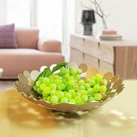 Innovative Metal Countertop Fruit Basket Bowl Large Round Decor Plate Table Centerpiece Holder Stand For Fruit Vegetable Candy