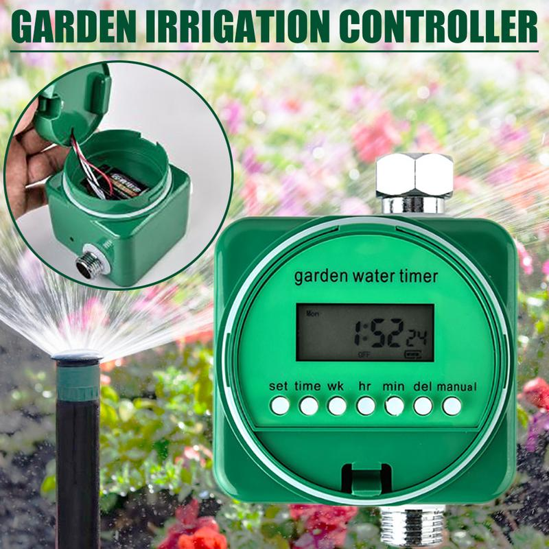 LCD Display Automatic Mechanical Water Timer Electronic Watering Timer Irrigation Controller Garden Plant Watering TimersLCD Display Automatic Mechanical Water Timer Electronic Watering Timer Irrigation Controller Garden Plant Watering Timers