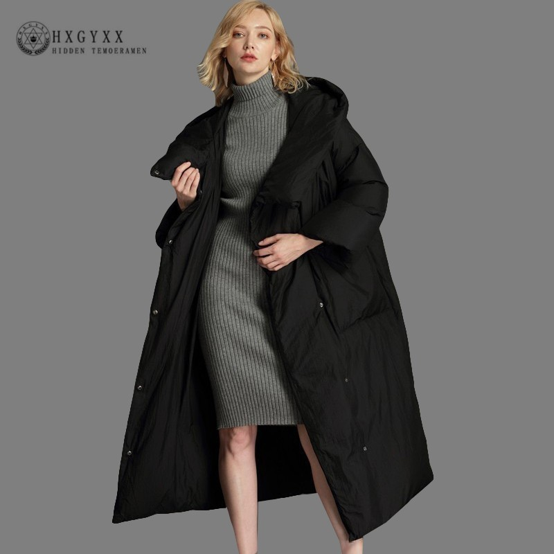 XS-7XL Plus Size Winter Jacket Woman Duck   Down   Parka Thick Warm Snow Outerwear Clothing Goose Feather   Coat   Long 2019 Okd623