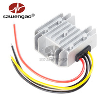 12V/24V to 5V 10A 50W DC DC Converter IP68 Car Display Step-down Power Supply Voltage Reducer Buck Module for Golf Garts high power ltc3780 automatic regulate voltage power module for car pc laptop power supply dc dc 5 32v in 2 24v out
