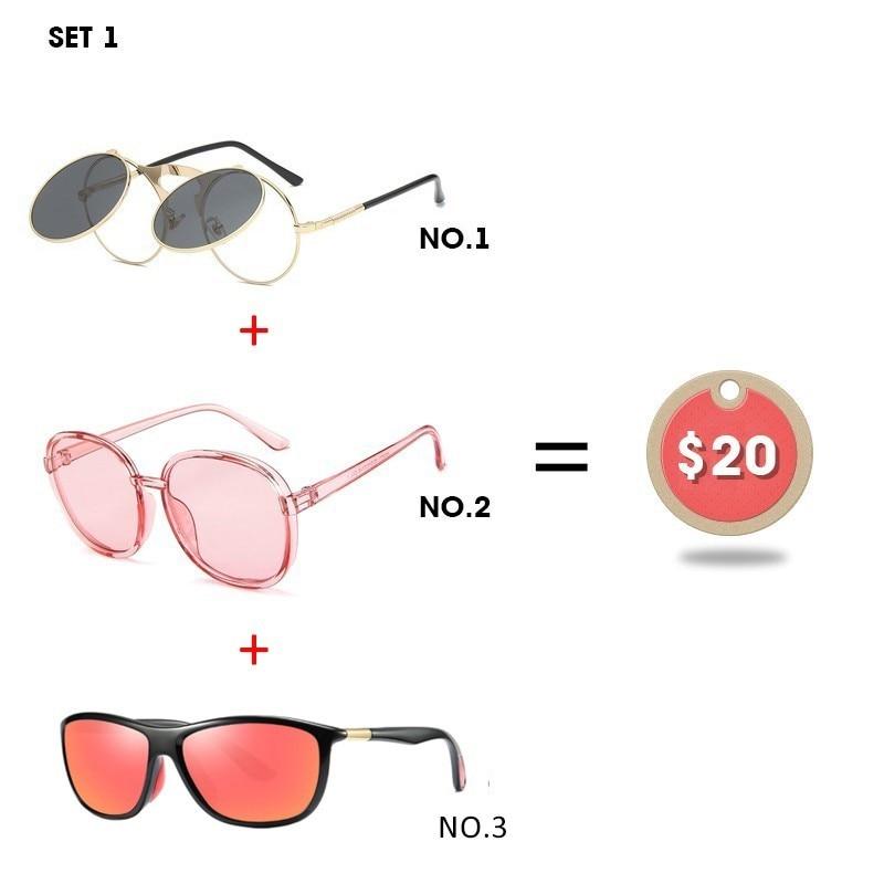 Fashion Couple Clip Sunglasses Polarized Driving Men Women Transparent Glasses 3 Pcs Combination 20 Dollars Eyewear DD03