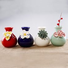 Chinese Ceramic Vase Simple Retro Ornaments Creative Mini Decoration Home Accessories