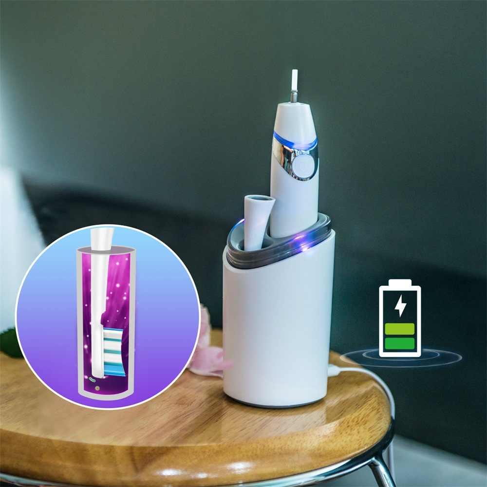 Elektryczna szczoteczka do zębów zestaw dezynfekcji UV suszarka do płukania kubek przenośny dorosłych biały wodoodporny suszenia sterylizacji przenośny podróży garnitur