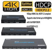 4K 60Hz (4:4:4) 3D EDID HDMI Splitter HDMI 2.0 1x2 1x4 1x8 Splitter HDCP 2.2 Audio Video Converter Repeater 2 4 8 Port Amplifier