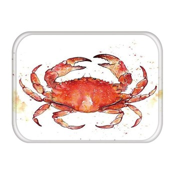 Kitchen Rug Marine Style Doormat Outdoor Rubber Mermaid Printed Pattern Coral Velvet Anti-slip Floor Mats tappeto cucina 48226-1 image