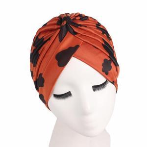 Image 5 - Summer Women Hat Printing Chemo Hat Beanie Skullies Islamic Muslim Scarf Stretch Turban Head Wrap Cap Hair Loss Hat Accessories