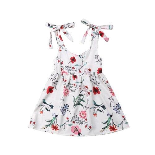 2019 été famille robe mère et fille correspondant fille tenues robes maman et fille correspondant vêtements coton 5