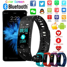 2019 New Smart Watch Bracelet Waterproof Color Screen Wristband Heart Rate Blood Pressure Monitor Activity Fitness Tracker Band