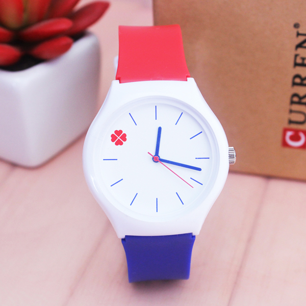 NAZEYT Brand Ladies Watch Waterproof Quartz Watch Four-leaf Clover Dial Stuedent Children Jelly Watch Women Silicone Wristwatch
