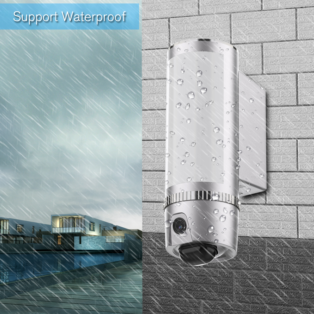 HD 1080P Wall Light Wireless WiFi Camera 100 Leds Motion Detected Floodlight Security Cam Cloud Storage