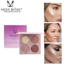 MISS ROSE highlighter palette face bronzer contour powder makeup palette shimmer face powder concealer repair cosmetics 8 colors miss rose brand matte blush palette peach cheek shimmer bronzer singel blusher on contour cosmetics 12 colors face makeup powder