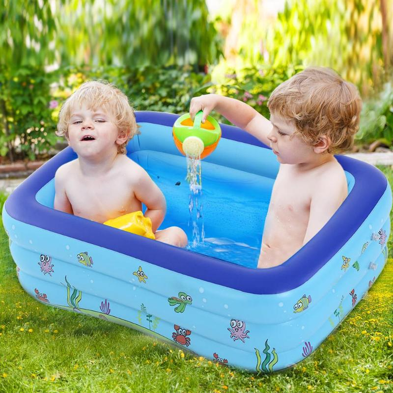 Inflatable Kids Swimming <font><b>Pool</b></font> Summer Baby Outdoors <font><b>Water</b></font> Play Toys Portable Children Thickening Swim Tubs Round Basin Bathtub image
