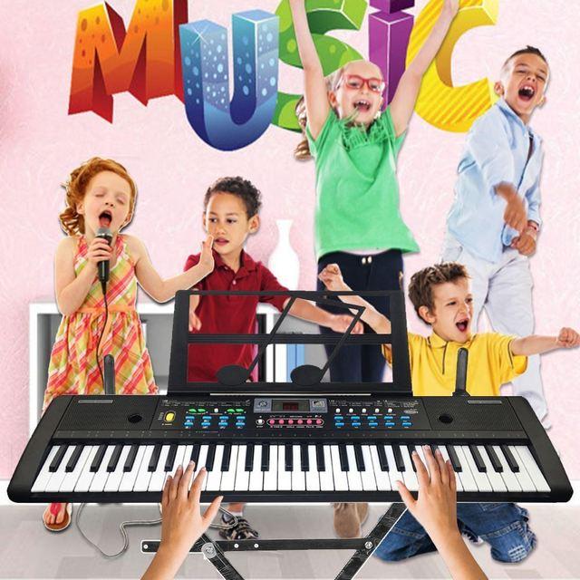 61 Keys Digital Electronic Keyboard And Microphone Electric Led Music 5
