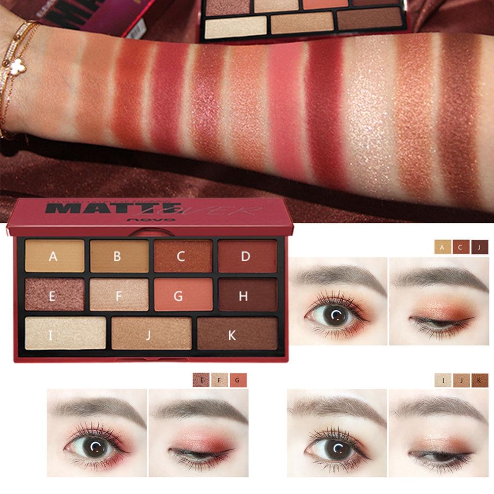 Eye Shadow Beauty Essentials Responsible 2018 New Eyeshadow Palette Makeup Pallete Diamond Glitter Metallic 9 Color Nude Creamy Pigmented Professional Mini Shadow Kit