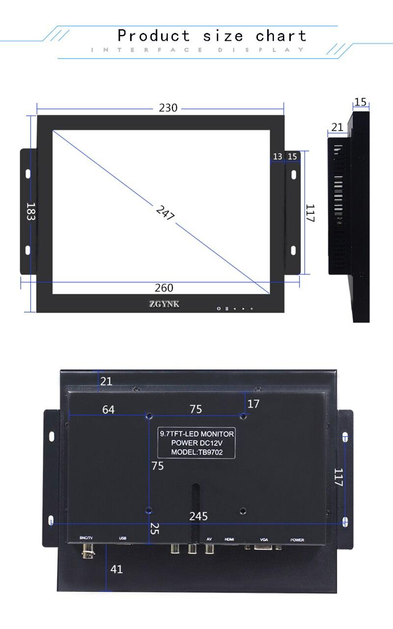 ZGYNK. Pantalla abierta dedicada a equipos industriales con marco - Periféricos de la computadora - foto 4