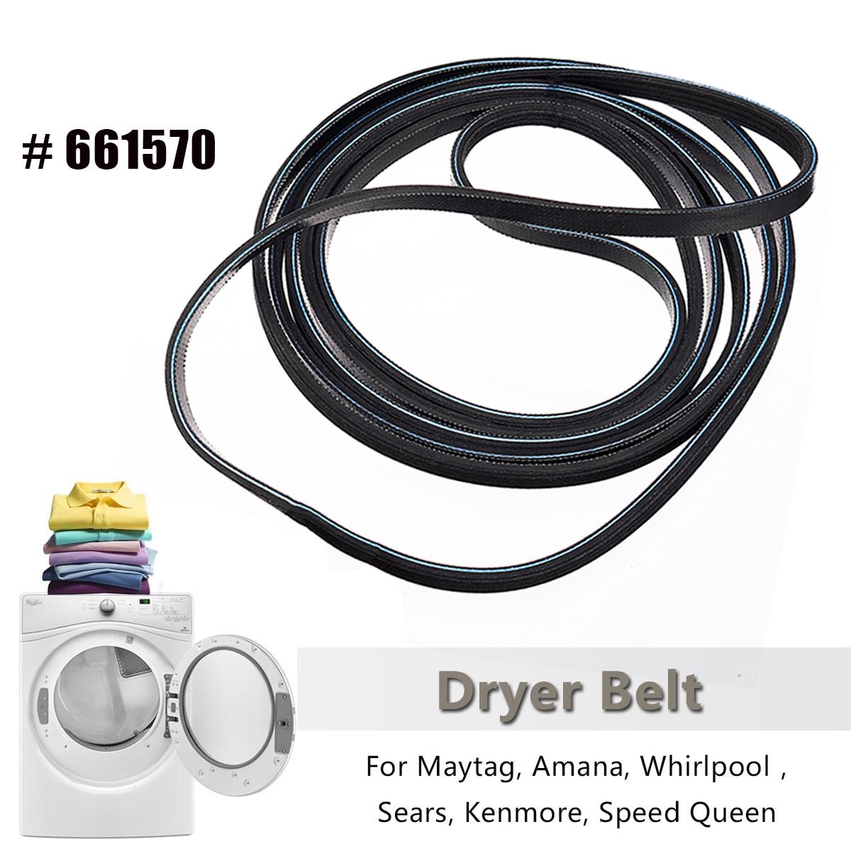 230cm*0.6cm Dryer Drum Belt For Whirlpool Sears Kenmore Maytag Amana 661570 3387610 AP2911808 PS382430