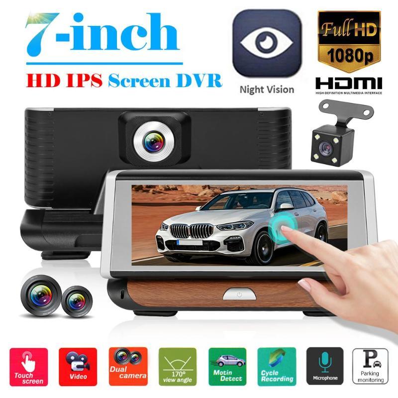 7 inch Touch Screen Full HD 1080p Car DVR Camera Dual Lens Night Vision Dash Cam