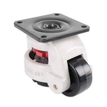 "4Pcs/set 2"" Retractable Leveling Casters Industrial Machine Swivel Caster Heavy Duty 551lbs Capacity"