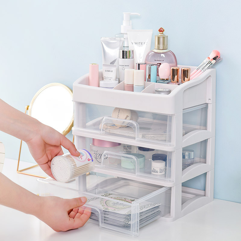 Mrosaa Plastic Makeup Organizer Cosmetic Drawer Storage Box