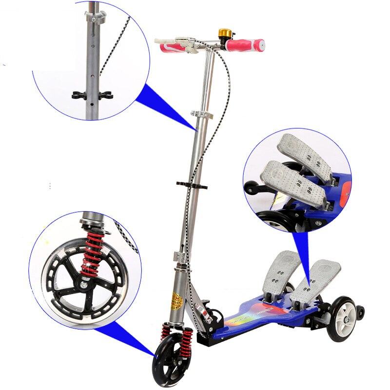 Shouhutongnian 002 meilleur coup de pied Scooter enfants adultes Enfant 2 roues cadeau deux roues planche à roulettes en alliage d'aluminium pédale pliable équitation