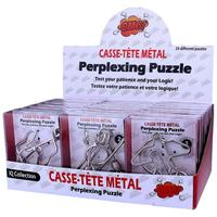 24pcs/set Metal Wire Puzzles Brain Teaser IQ Lock Classical Intellectual Educational Toy for Children Kids Silver