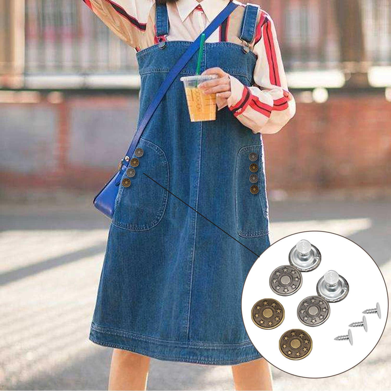 50 набор 17 мм Сменные Металлические заклепки для джинсов короткие куртки рюкзаки свитера ремни сумки кожаные палатки брюки