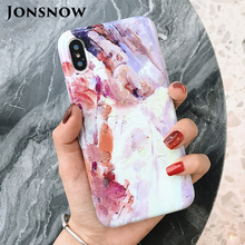 JONSNOW Painted Case for iPhone XS 7 Plus 6 6S Glossy Soft Silicone Back Cover X 8 Phone Protective Capa