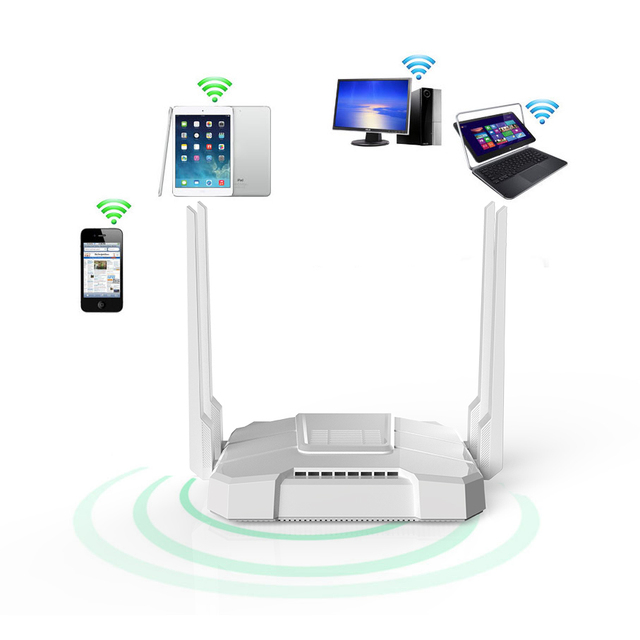 11AC MU MIMO Wifi 중계기 100 메가 비트 2.4G / 5G 듀얼 밴드 5dBi 고 이득 안테나 1167Mbps 1GHz