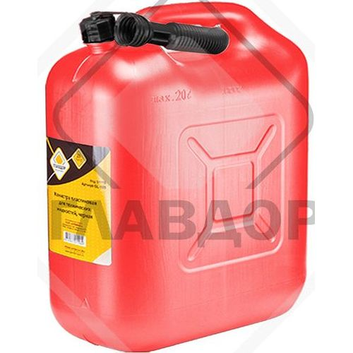 Canister ГЛАВДОР GL-322 red, fuel plastic 20L (52337) air compressor intake filter silencer black plastic housing canister 19mm diameter