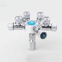 New Aquarium Co2 Distributor Splitter Needle Valve Multi Way Solenoid Regulator Check Valve Bubble Counter Home Garden Supplies