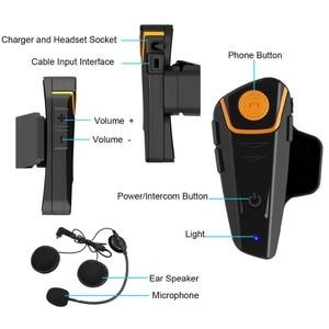 Image 2 - Original 2 pcs BT S2 Pro motorcycle helmet intercom motorbike wireless bluetooth Helmet Headset waterproof  FM Radio Interphone