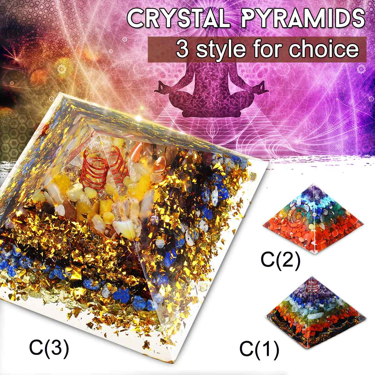 90x90x75mm Reiki Healing Orgonite Pyramid Energy Converter Orgone Accumulator Stone That Changes The Magnetic Field Of Life90x90x75mm Reiki Healing Orgonite Pyramid Energy Converter Orgone Accumulator Stone That Changes The Magnetic Field Of Life