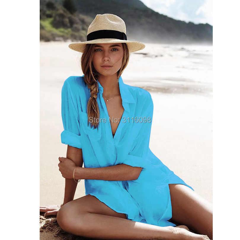 Bikini cover up rendas oco crochê borla maiô praia vestido feminino 2019 verão senhoras encobri-ups maiô praia wear túnica