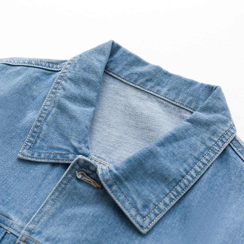 Осенняя мужская куртка на молнии с карманами джинсовая одежда синего цвета для мужчин повседневная куртка пилот 2018 мужская одежда пальто 340