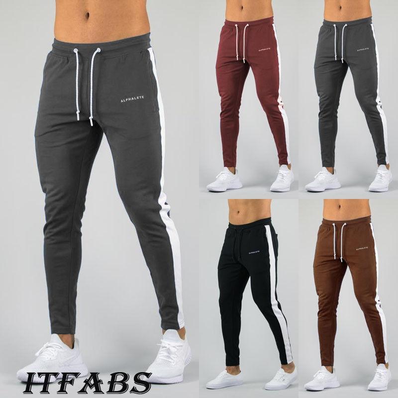Fashion Mens Gym Fitness Sweats Pants Workout Running Wear Sport Trousers M-2XL