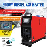 5KW 12V Air Diesels Heater 4 Air Outlets LCD Monitoring Remote Controlling Car Parking Heater For Trucks Boats Bus Car