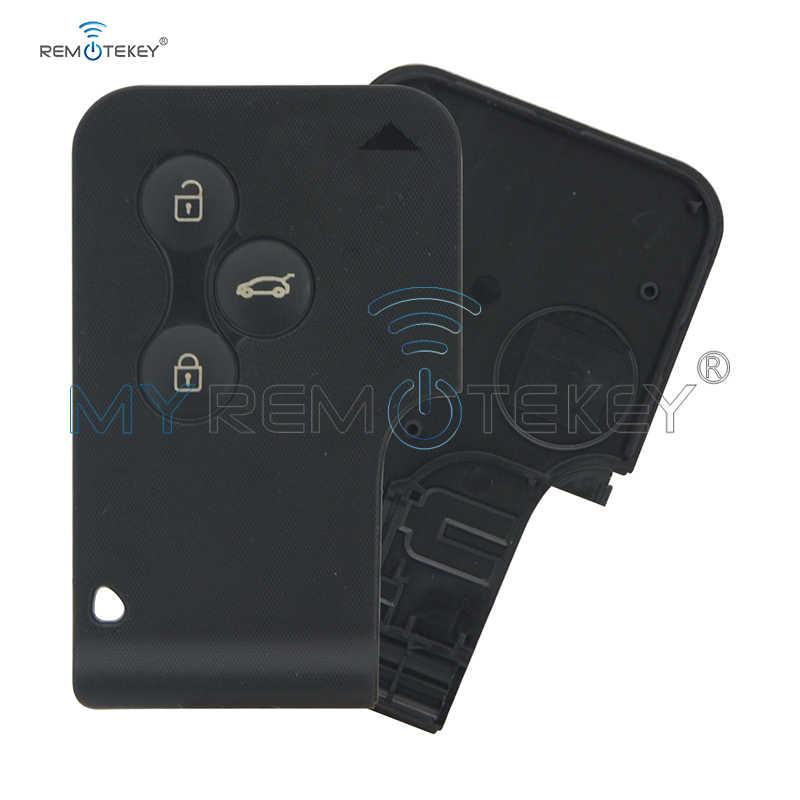 Remtekey inteligentny klucz etui na karty shell 3 przycisk dla Renault Megane 2003 2004 2005 2006 2007 2008