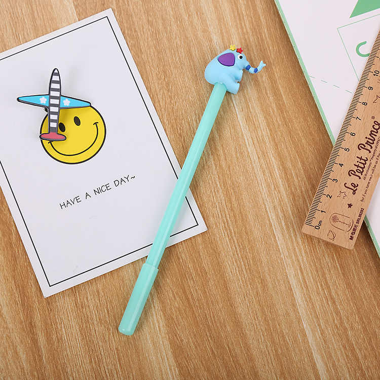 Ellen Brook 1 Miếng Kawaii Đồ Dùng Học Tập Đồ Văn Phòng Tay Cầm Sáng Tạo Quà Tặng Dễ Thương Hoạt Hình Voi Ngọt Gel Tặng Bút Cảm Ứng